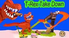 t rex dinosaur take wheels cars track playset