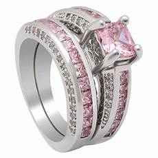 top 2pc silver plated wedding rings sets wholesale