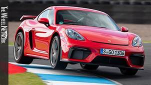 2020 Porsche 718 Cayman GT4  Guards Red Driving