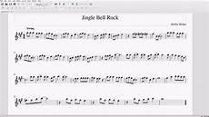 jingle bell rock alto bari sax sheet music youtube
