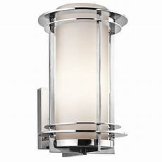 10w led outdoor brushed chrome cylinder porch light wall light ip44 wall lights led