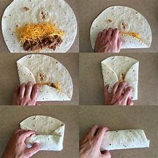 Wraps Richtig Rollen - how to fold a burrito finedininglovers