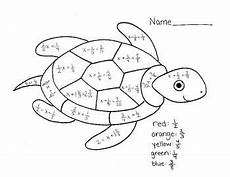 color by number systems of equations worksheet 16138 color by number turtle solving one step equations with fractions one step equations turtle