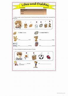 likes and dislikes worksheet free esl printable worksheets made by teachers
