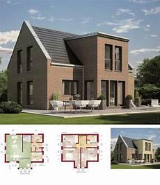 modernes einfamilienhaus mit klinker fassade haus