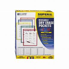 money worksheets 2295 c line reusable erase pockets 9 x 12 assorted primary colors 25 box clear practice