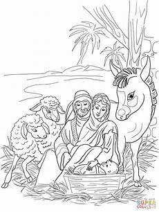 nativity animals coloring pages 17101 desenho de cena do nascimento sagrada fam 237 lia e animais para colorir desenhos para colorir