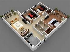25 More 3 Bedroom 3d Floor awesome 25 more 3 bedroom 3d floor plans 1000 sq ft house