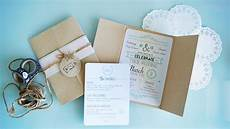 my diy rustic wedding invitations ever so britty