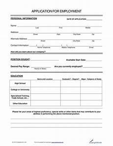 14 employment application form exles pdf exles
