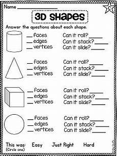 shapes attributes worksheets 1035 grade math unit 17 geometry 2d shapes and 3d shapes 1st grade math