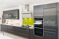 Nobilia High Gloss Anthracite Kitchen With Handle