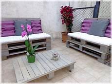 Pallets Garden Lounge Salon De Jardin En Palettes La