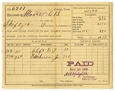 property tax receipt november 23 1895 page 1 of 2