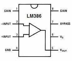 Audio Lifier Ic Circuit Using Lm386 Edgefx