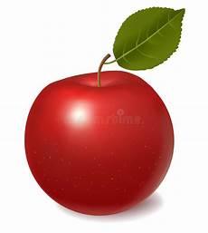 Malvorlage Apfel Mit Blatt Roter Apfel Mit Blatt Vektor Vektor Abbildung