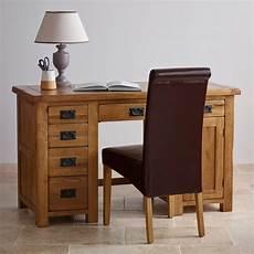 original rustic computer desk in solid oak oak furniture land