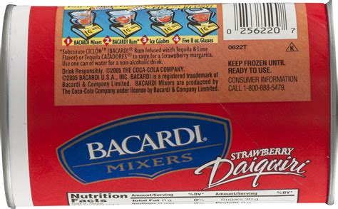 Bacardi Nutrition Facts