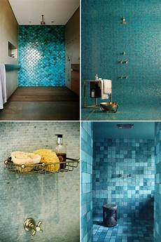 Badezimmer Fliesen Blau - blue green bathroom tiles the style files