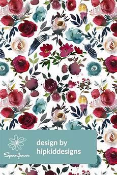 Stoff Mit Ausgefallenem Blumenmuster - wine boho florals by hipkiddesigns painted