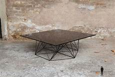 table basse metal verre table basse vintage design pieds m 233 tal eiffel plateau verre