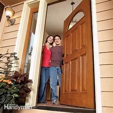 how to install a door the family handyman
