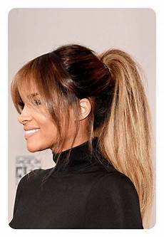 Ponytail Hairstyles With Bangs