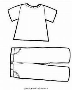 T Shirt Malvorlagen Kostenlos T Shirt Und Hose Gratis Malvorlage In Diverse Malvorlagen
