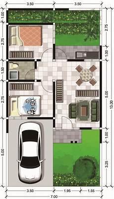 Denah Rumah Type 45 Desain Rumah