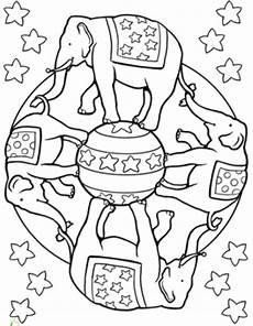 Malvorlagen Mandala Elefant Circus Elephant Mandala Coloring Pages Mandala Coloring