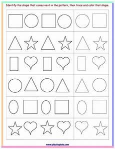 pattern coloring worksheets for kindergarten 323 worksheet shapes trace color pattern free printable toddler preschool file folder learn