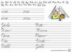 cursive writing worksheets for beginners 22091 printable cursive handwriting practice worksheets