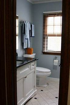paint bathroom cabinets and keep wood trim for the home