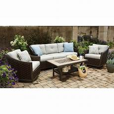 patio furniture 4 piece deep seating with premium