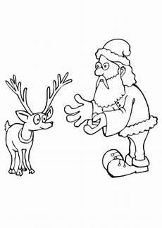 Ausmalbilder Rentiere Weihnachtsmann Ausmalbilder Weihnachtsmann Lockt Ein Rentier