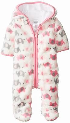 newborn winter clothes 0 3 months absorba baby newborn g elephant fuzzy footie pink