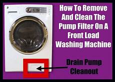 how to clean filter on a front load washer drain