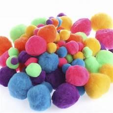 assorted bright craft pom poms craft pom poms