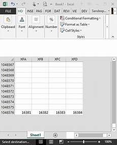 how many rows and columns are in one excel sheet quora