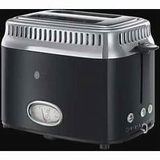 toaster schwarz toaster hobbs russell hobbs retro classic noir kompakt