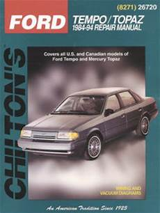 free auto repair manuals 1990 mercury topaz transmission control chilton ford tempo topaz 1984 1994 repair manual