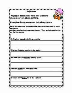 all about adjectives a series of worksheets for grades 2 3 teacherspayteachers com teacher
