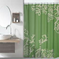 shower curtains with green green luxury fabric shower curtain with light green