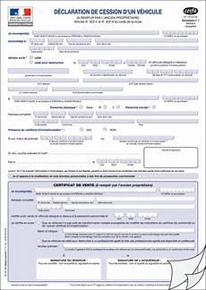 certificat de cession à remplir exemplaire certificat de cession