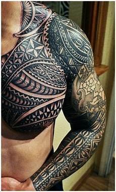un maori sur bras complet 233 paule et poitrine