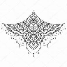 henna blume vorlage mehndi stil satz