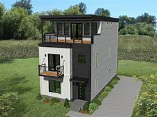 modern house plans for narrow lots modern contemporary 3 story home plan with ideal for