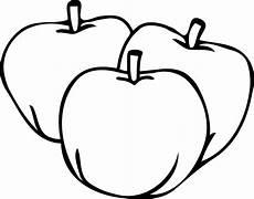 Gambar Mewarnai Buah Apel Cocok Untuk Tk Dan Paud