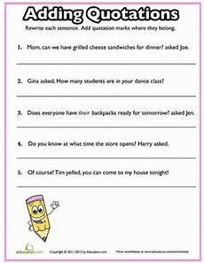 quotation marks quiz 2 worksheet education com