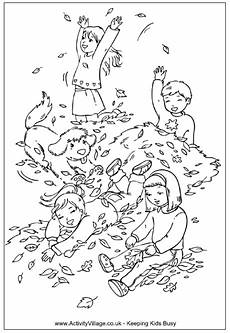 autumn play colouring page